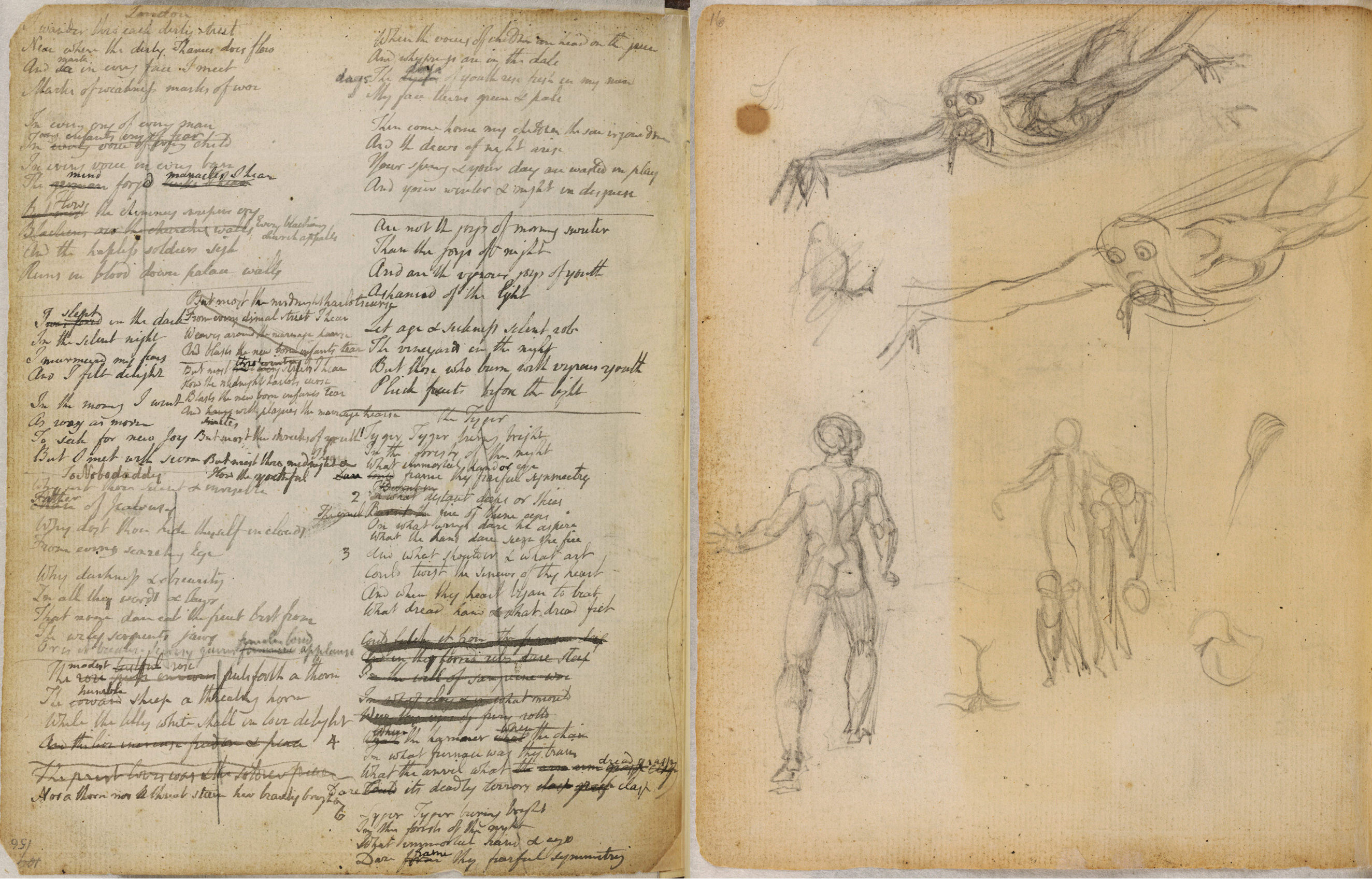 Art History Indian Drawings On Soldiers Notebook