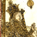 Elizabeth I in a golden chariot