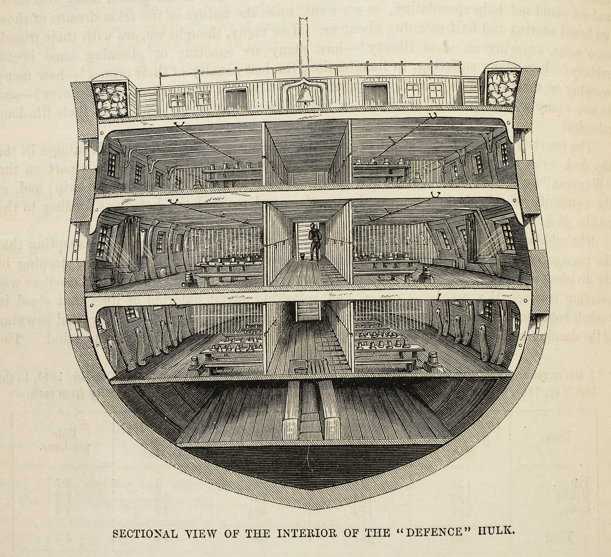 Victorian Blueprints A Hulk Prison Ship