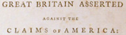 Rights of Great Britain asserted against the claims of America