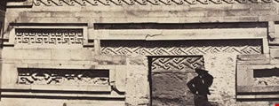 The Great Palace at Mitla, interior of the Court,