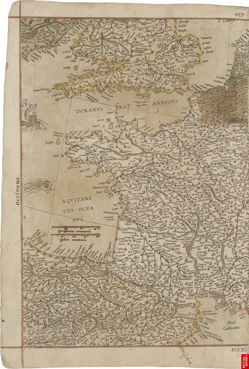 Virtual Books Images Only The Mercator Atlas Of Europe Pages 11 And 12
