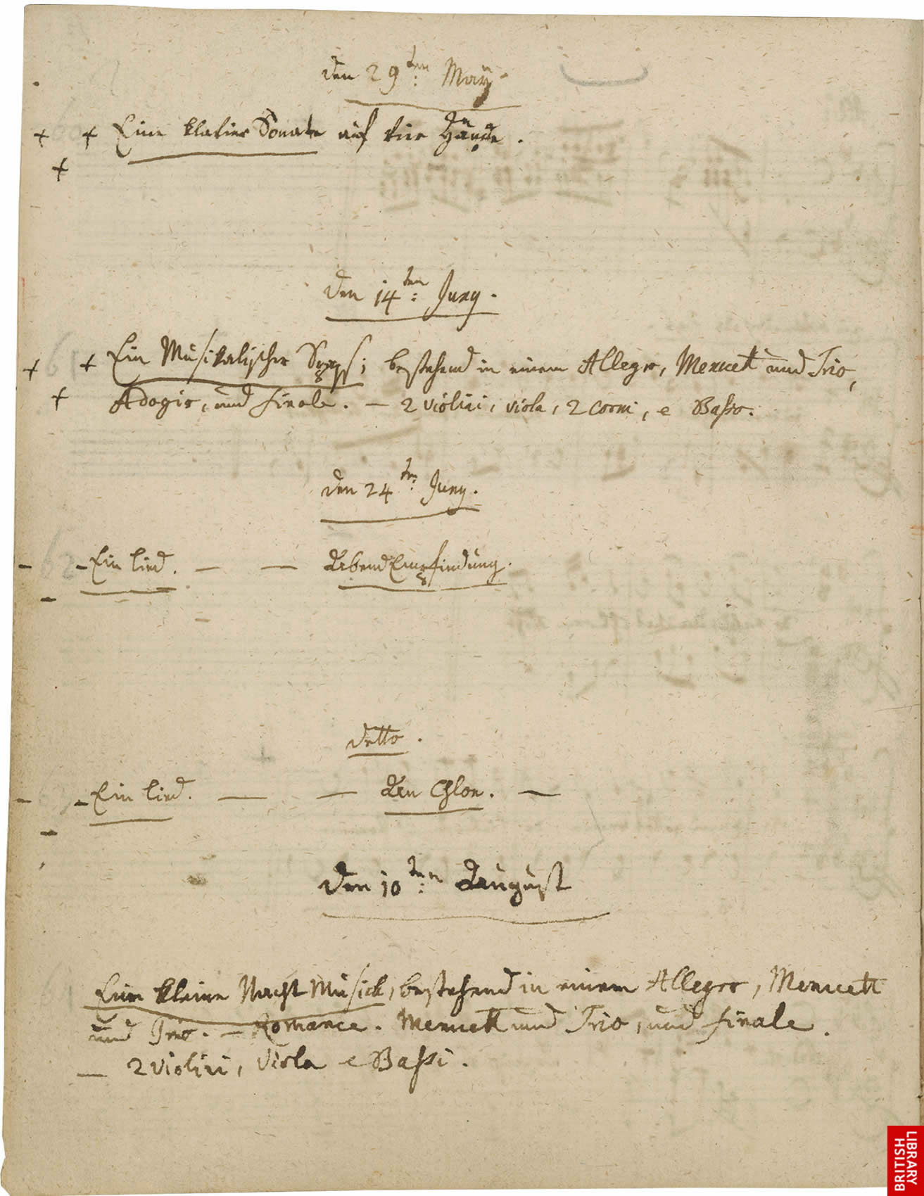 Virtual books: images only - Mozart's Thematic Catalogue - ff  12v-13r