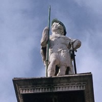 Statue of San Vitale on column