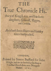 Titlepage, The True Chronicle History of King Leir