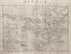 Map of Africa. Leo Africanus, A Geographical Historie of Africa