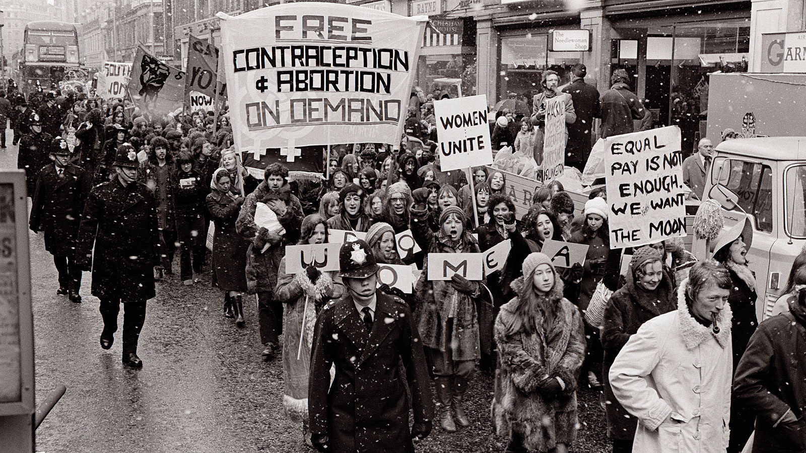 women's liberation The women's liberation movement says women should be given equal job opportunities and equal pay for equal work in family roles a woman's place is in the home.