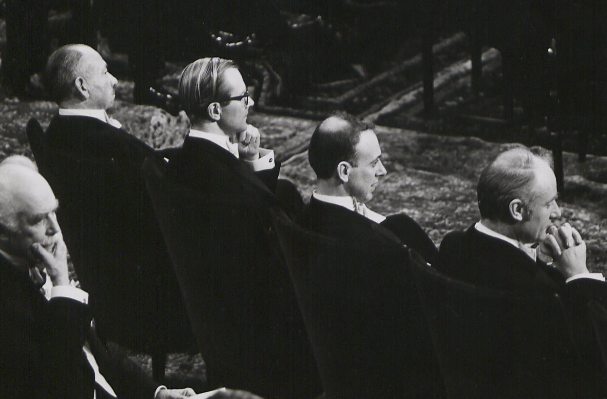 Maurice Wilkins at the Nobel Prize Award Ceremony, 1962.  Photo Kings College London
