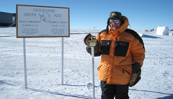 Charles Swithinbank at the South Pole, 2010