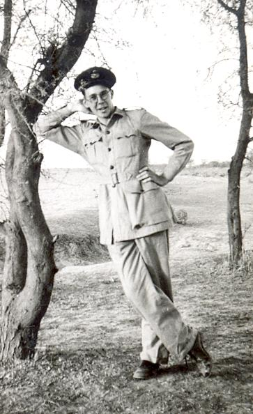 Raymond Bird at Ambala, Punjab, on the golf course, 1944/45