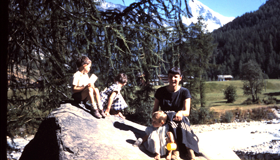 Grove family, Switzerland, August 1961