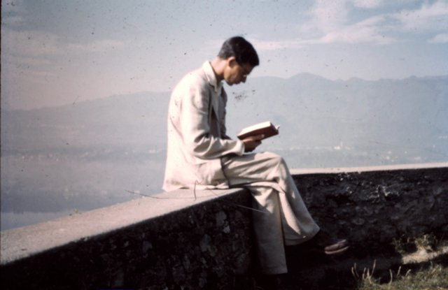 Dick Grove at Lake Orta, Vacciago, Italy, August 1957