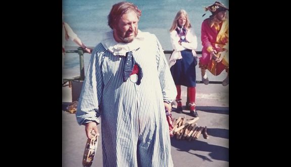 Roy Dommett dressed as Andy Pandy