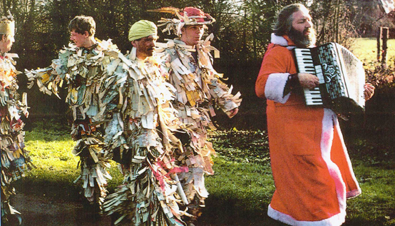 Roy Dommett with Crookham Mummers, c. 1985