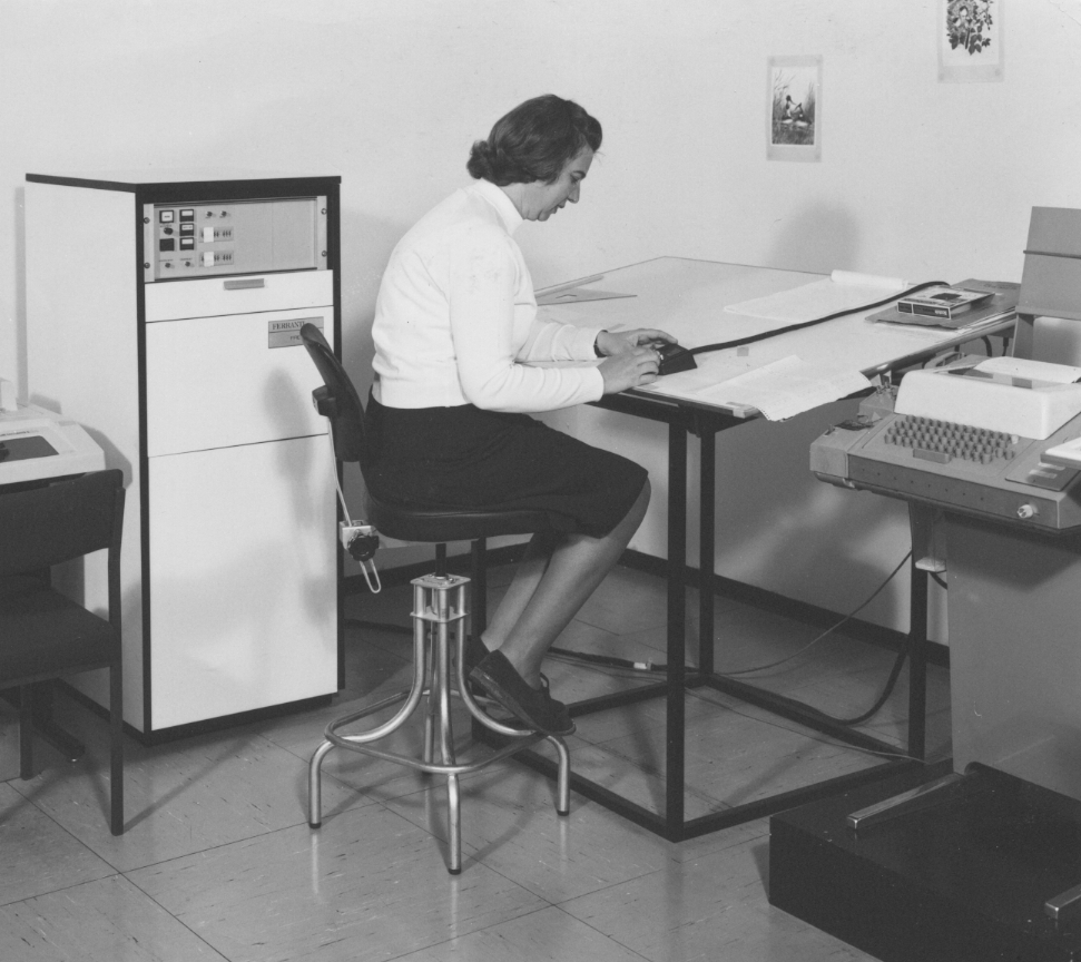 Digitisation tables at the British Antarctic Survey, 1978