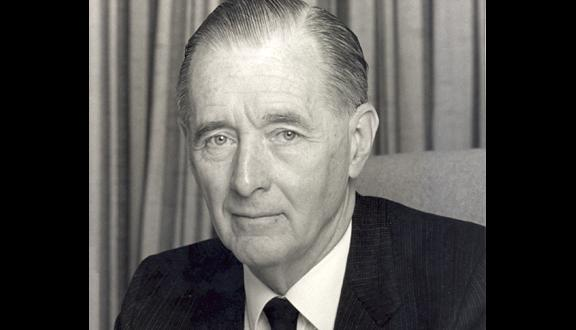 Roy Gibson as the first Director General of the European Space Agency, 1979