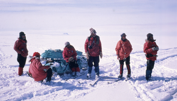 Geological fieldwork in Ellsworth Land, Antarctica, 1985