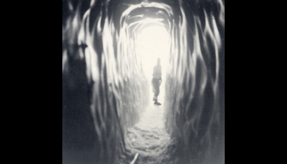 Tunnel through Vesl-Skautbreen, Jotunheim, Norway, 1951