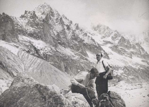 John Glen and Max Perutz on the Mer de Glace, summer 1950