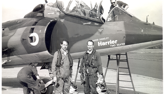 Ralph Hooper after his flight in the Harrier c.1972 © BAE SYSTEMS