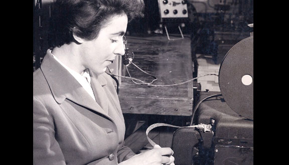 Stephanie Shirley checking the randomness of Premium Bond number 'computer' ERNIE at Dollis Hill, 1950s