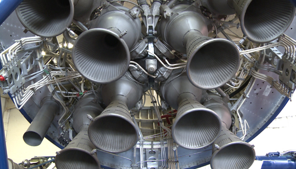 Black Arrow rocket engine nozzles