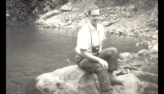 John Kington in Marangu near Mount Kilimanjaro, Tanzania, 1961