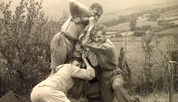 Richard West, Dick Grove and others coring  in the Lake District, 1950s