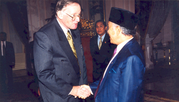 John Coplin and President Habibie of Indonesia, 1990s