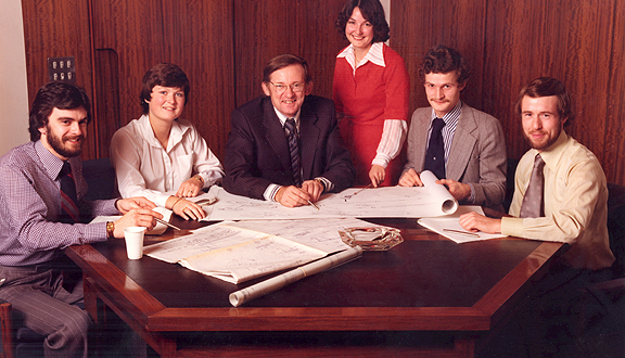 John Coplin and new graduate engineers, 1970s