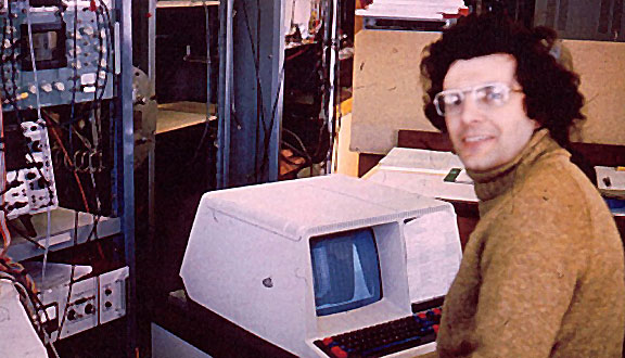 Chris Rapley at Mullard Space Science Laboratory, 1978