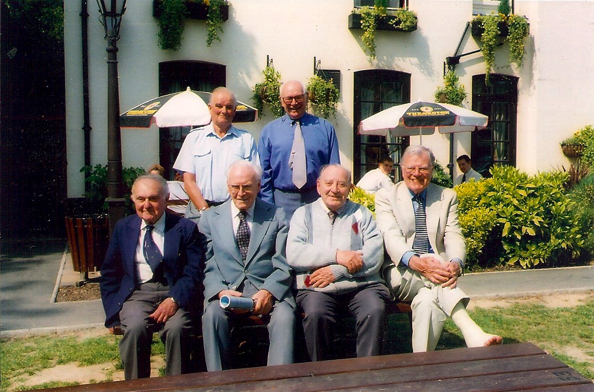 Dennis Higton and colleagues in retirement