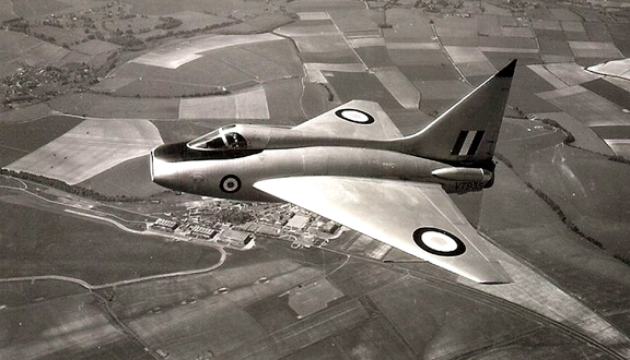 Bolton Paul Delta experimental aircraft in flight c.1950s