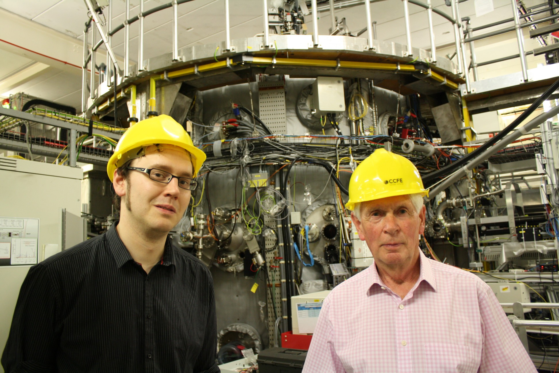 Thomas Lean and Mike Forrest at Culham Centre for Fusion Energy, 2011
