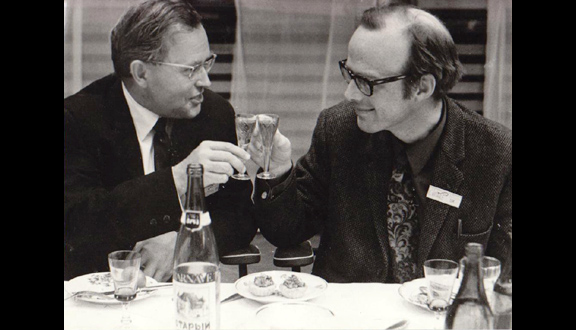 Tony Hoare (right), Novosibirsk, c.1970.