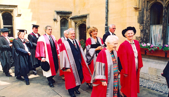 Julia Higgins at the 2003 Encaenia Honorary Degree Ceremony, Oxford