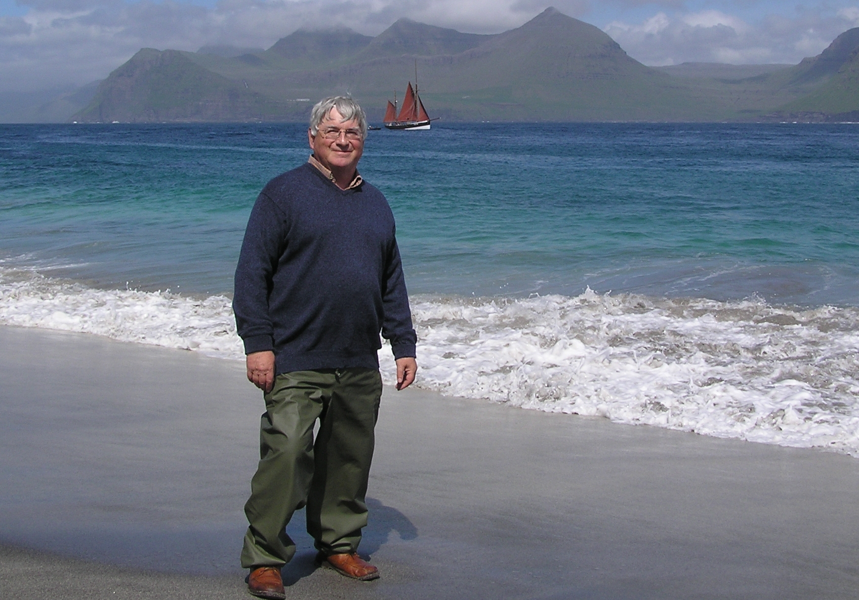 Bob Dickson in the Faroes, 2006. Photo Charlie Eriksen UW Seattle