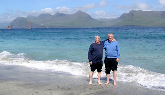 Bob Dickson and Lennart Bengtsson in the Faroes, 2006. Photo Charlie Eriksen UW Seattle