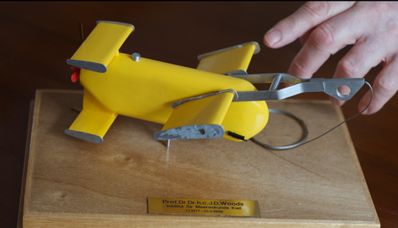 Model of Batfish instrument.  Photo Dr Silvana Vallerga
