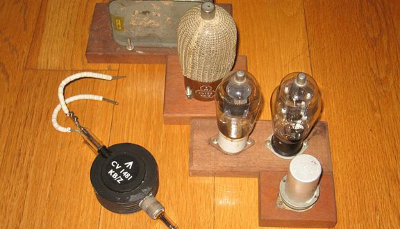 Thermionic valves and magnetron used in 1940s electronics