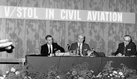 Ralph at a London conference on civilian vertical take off aircraft