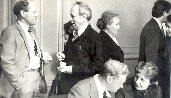 Andrew Gilchrist with Yale Mintz at a conference in Leningrad, 1972