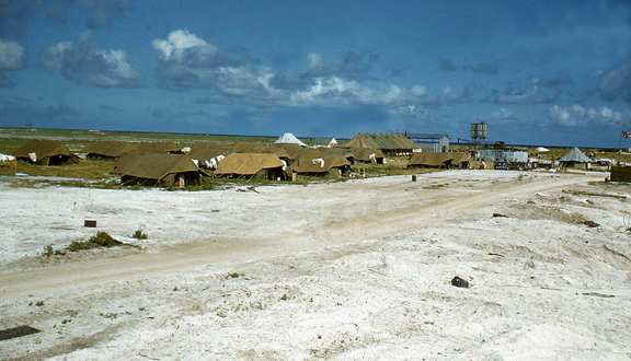 Tents on Malden Island, Operation Grapple, 1957