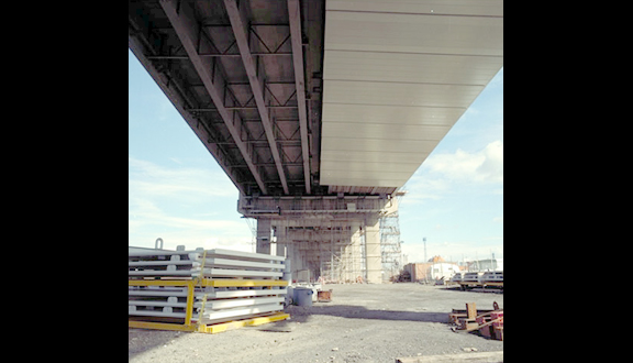 A19 Tess Viaduct Bridge enclosure made from Advanced Composite Construction System [ACCS], 1989