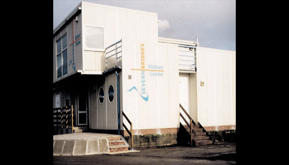 Second Severn Crossing visitors' centre, made entirely from composites and ACCS, 1998