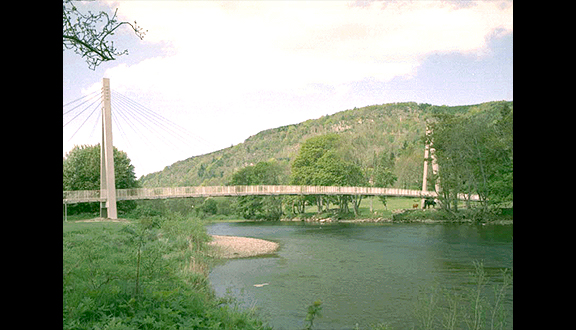 Aberfeldy Bridge, the world's longest advanced composite bridge, 1992