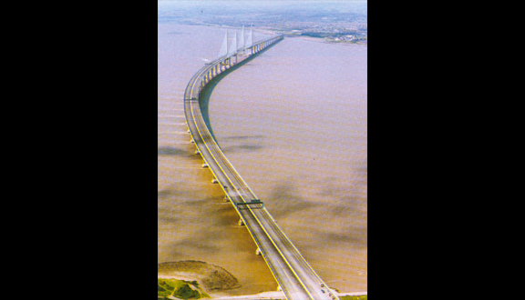 The completed Second Severn Crossing, June 1996