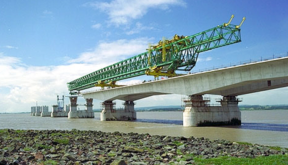 Construction of the Second Severn Crossing, July 1994