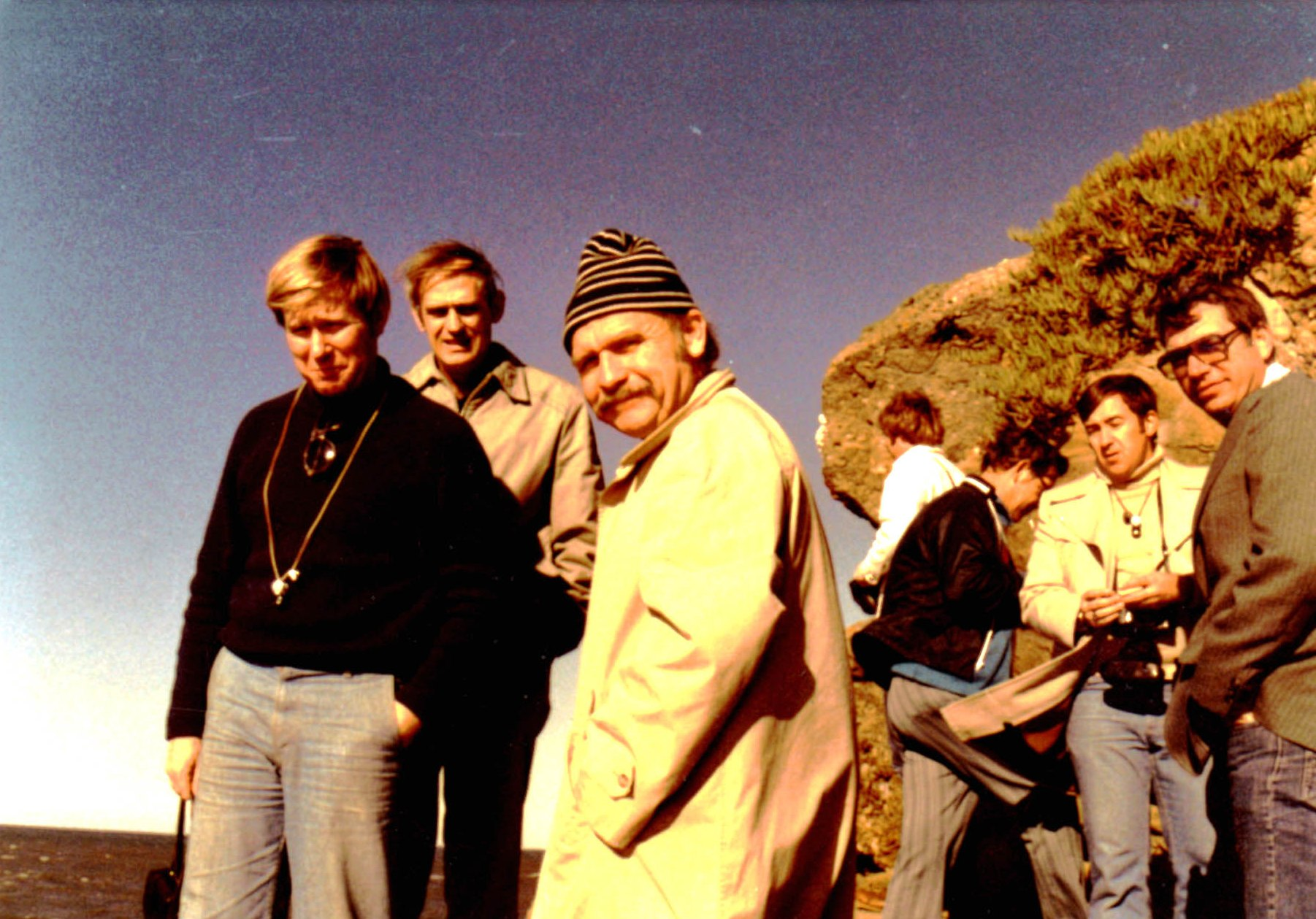 John Dewey and colleagues at Pigeon Point, California, 1974