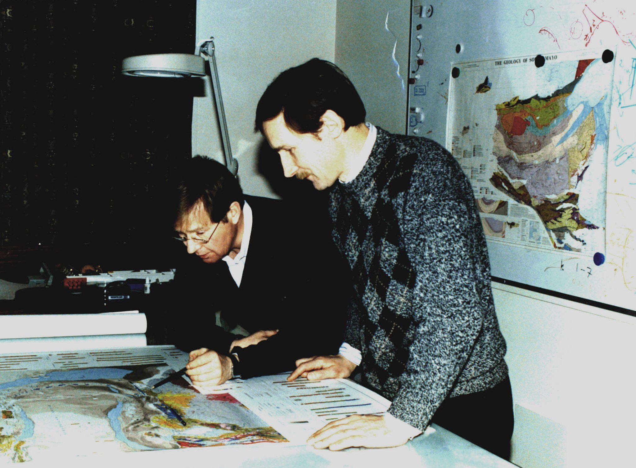 John Dewey and Tony Watts, Oxford, May 1995